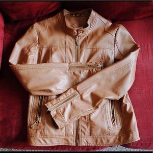 Jou Jou vegan faux leather moto  jacket